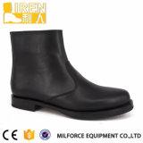 黒い本革の流行のGoodyearの足首のオフィスの靴