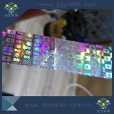 étiquette de l'hologramme 3D employant dans l'empaquetage