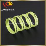 Bracelet fait sur commande de silicones de bracelet en caoutchouc d'impression d'écran en soie bon marché