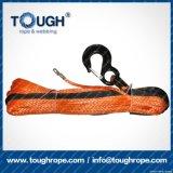 Fibra 100% resistente de Uhwmpe da corda da corda sintética do guincho Orange9.5mmx28m4X4