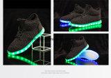 Горячие продавая высокие верхние ботинки Yeezy Flykint СИД светлые для детей