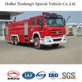 16ton HOWOの泡および水漕のタイプ消火活動のトラック