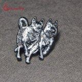 Promozione di Pin del risvolto tagliata argento su ordinazione dell'oggetto d'antiquariato di marchio