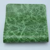 Cuero brillante del PVC de la PU de la tapicería que vetea para el sofá (F8002)