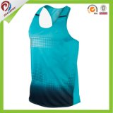 A venda superior projeta camisolas interioas Running Sublimated da ginástica da camisola interioa