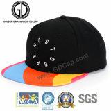 Tampão cabido costume do Snapback do preto do chapéu da alta qualidade 2017 com correção de programa de couro