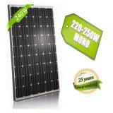 Рельс дешевой установки панели солнечных батарей 20V 240W Mono алюминиевый для системы 25kw