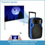 Beweglicher LED Projektions-Lautsprecher des Plastik-PA-Systems-mit Batterie