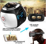 Campark 16MP 3k (2448*2448/30fps) câmera panorâmico da ação de um Vr de 360 graus, lente esférica, 3D, impermeável, WiFi, repetição do vídeo dos auriculares de Vr da sustentação
