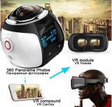 Campark 16MP 3k (2448*2448/30fps) 360 Grad panoramische Vr Vorgangs-Kamera, kugelförmiges Objektiv, 3D, wasserdicht, WiFi, UnterstützungsVr Kopfhörer-VideoReplay