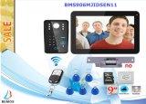 9 Intercom van de Deurbel van de Telefoon van de Deur van de Opname van het Wachtwoord van de duim RFID de Video