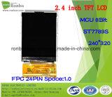 2.4 moniteur de TFT LCD de pouce 240*320 MCU 8bit 24pin, panneau de contact d'option