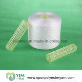 Hilo de coser hecho girar material del poliester de la cuerda de rosca