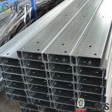 Purlin d'acciaio galvanizzato di C per acciaio prefabbricato