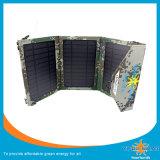 Cargador solar bolsa para el ejército y con color verde del ejército