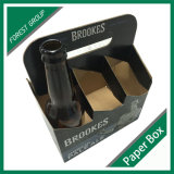Custom Corrugated Cardboard Packaging Garrafa de vidro 6 Pack Beer Box