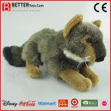 Loup gris de peluches molles réalistes de jouet