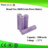 熱い販売の品質3.7V 2500mAh力電池18650李イオンセル