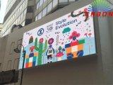 P10mm 사각, 학교, Plazza (10X4m)를 위한 옥외 RGB 발광 다이오드 표시 널
