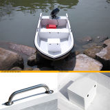 Vetroresina che pesca l'yacht gonfiabile della barca con il motore esterno