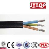 Câble souple engainé par PVC de PVC Indualted de 3 faisceaux pour le fil électrique de LSZH