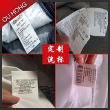 Contrassegno di cura di lavaggio di istruzione di alta qualità all'ingrosso per vestiti