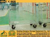 Rollo de alambre de metal de la jaula de almacenamiento Contenedores