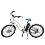 do cruzador gordo de 26 '' bicicleta elétrica mulheres do pneu em linha do fabricante elétrico da bicicleta para a venda