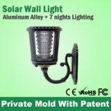 Lumière solaire de mur du jardin DEL avec la conformité de FCC de la CE