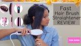 2017毛をまっすぐにするための電気LEDの毛のストレートナのブラシ