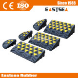 Black & Yellow Rubber Reflective Car Kerb Ramp