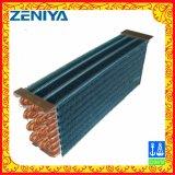 空気単位のための低い電力のステンレス鋼の管のひれのタイプ熱交換器