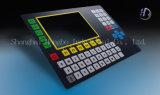 Écran protecteur/touche à effleurement plate/gravée en relief de clavier numérique de bouton poussoir avec le guichet d'affichage à cristaux liquides