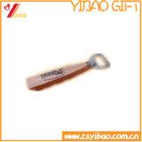 Di legno del marchio di Customed apri di bottiglia della maniglia del metallo (YB-HR-12)