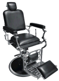 調節可能なPUの革理髪師の大広間の椅子、現代人間工学的の腰掛けによってパッドを入れられる空気の美容院