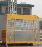Одиночный персонал клетки 1000kg материальный поднимает с противовесом
