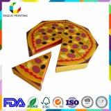 El triángulo de Customzied de papel de tarjetas quita el rectángulo de la pizza con la impresión