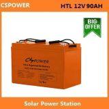 Батарея геля Cspower 12V90ah для хранения солнечной силы