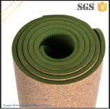 Lavable Mat Negro Cork Yoga con el Yoga Mat Bolsa