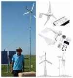 Générateur de turbine à vent de 300W avec système d'énergie solaire Générateur de turbine à vent Luminaire de rue solaire