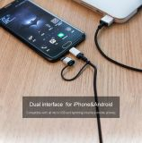 2016 2 neufs dans 1 câble usb compatible pour l'IOS et le système androïde