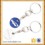 カスタム魅力的な印刷された買物をする硬貨Keychain