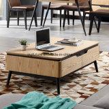 Журнальный стол древесины дуба Nodic естественный с 4 ящиками
