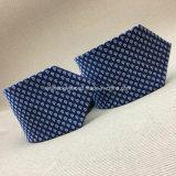 Logotipo de seda tecido da gravata do nó 100% jacquard Handmade perfeito
