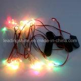 قماش قبعة [كبّر وير] 100 [لدس] متعدّد لون [كريستمس ليغت] خيط لأنّ عيد ميلاد المسيح فناء حزب زخارف ضوء