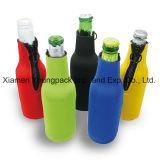 Réfrigérateur à bouteille de vin à base de néoprène isolé portatif à usage promotionnel à la fine pointe de la marque avec poignée