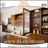 Module de cuisine neuf de placage en bois solide de type moderne