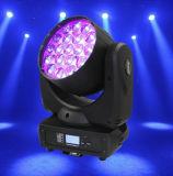 luz principal movente da lavagem do zoom do diodo emissor de luz de 19X12W RGBW