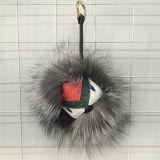 Cercatore di Keychain della nuova di stile pelliccia robusta del mostro/peluche chiave di Keychain con la sfera POM POM della pelliccia del Raccoon