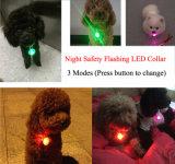 Pendentes de piscamento de incandescência do diodo emissor de luz do cão de animal de estimação dos colares dos acessórios dos animais de estimação